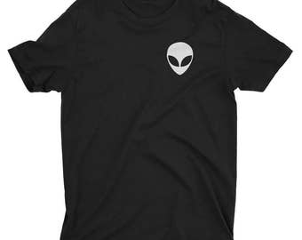 Alien Pocket T-Shirt - Alien Tee - Alien Head Shirt - The X-Files Alien tshirt - The Truth is out There