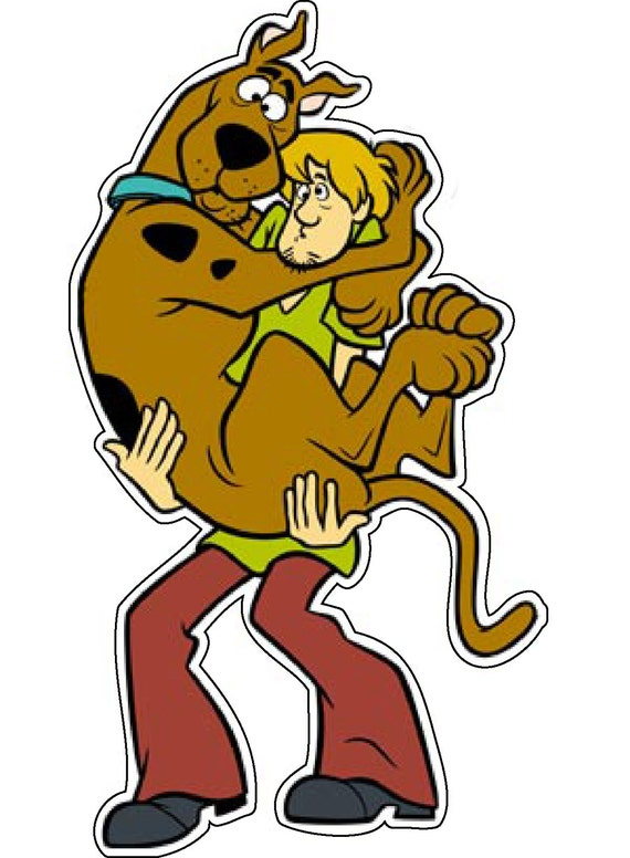 Scooby Doo & Shaggy Vinyl Decal Available in Many Sizes by DasPrinter