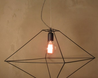 Polyhedron pendant etsy for Dodecahedron light fixture