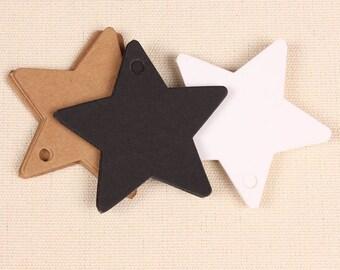 Star-shaped 10 kraft paper labels
