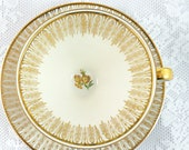 SALE Art Deco Gold and Cr...