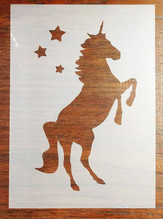 Unicorn stencil a5 mask reusable mylar sheet for arts for Arts and crafts stencils craftsman