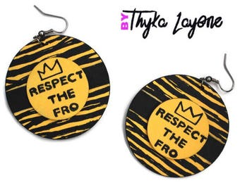Message Afro Afro respect fro the earrings - earrings