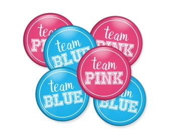 Gender Reveal Pins, Party Favors, Baby Shower Button Party Favors, Button Pins, 1.5 in Buttons, Custom Buttons, Custom Pins