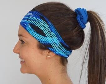 SALE * blue waves hair band