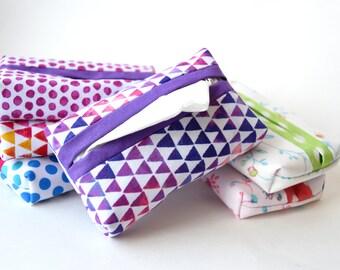 Pocket Tissue Cover, Tissue Holder, Travel Tissue Holder, Tissue Pouch, Kleenex Cover, Travel Accessory, Gift Idea