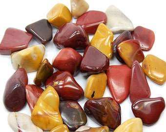 High quality tumbled Mookaite.  All pieces hand picked!