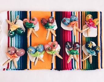 Mini maracas, Mexican maracas, Mexican favors, Fiesta favors, Mexican party favors, Wedding maracas, Maracas SET OF 10