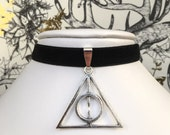 Harry Potter Deathly Hallows Choker Necklace in Various Colours