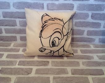 Bambi cushion cover, Bambi Decor, Disney Decor, Disney Interior, Disney Bambi, Upcylced, Bambi Pillow case, Disney style, Birthday gift.