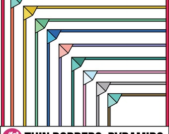 Thin Borders: Pyramid Frames (Letter & Square Clip Art)