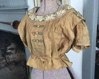Vintage 1900's 1910's Edwardian peasant blouse
