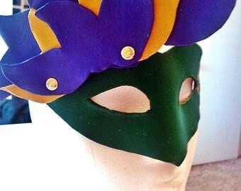 Mardi Gras Leather Mask