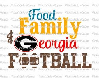 Food Family Georgia Football SVG file, Silhouette and Cricut