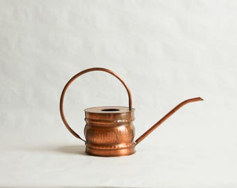 Vintage, Solid Copper Hammered Watering Can