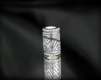 VALKNUT Long BEAD_Valknot Symbol_Silver bead_Paracord Bead_Norse Symbol_Viking bead_Beard bead_Viking jewelry