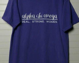 Alpha Chi Omega 108 Motto Shirt Comfort Color TShirt, Short Sleeve or Long Sleeve