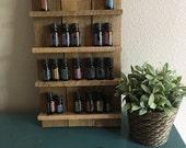 Rustic Oil Wall Storage, Reclaimed Display shelf, Essential Oils Storage, Pallet Shelf, Bath Storage