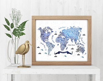 kids world map etsy. Black Bedroom Furniture Sets. Home Design Ideas