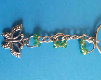 Butterfly Charm Keyring