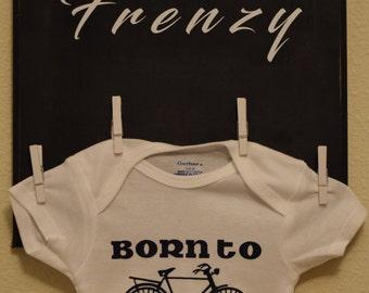 Customized Baby Onesie - Born To Ride Cyclist