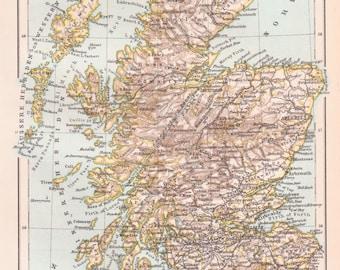 Antique Map of Scotland - Scotland, Map of Scotland, Antique Map of Scotland, Scotland Map, United Kingdom Map, European Map, World Maps,