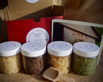 SALE Uplifting Body Scrub Gift Set || Organic Sugar Scrub || Sugar Scrub || Body Scrub Gift