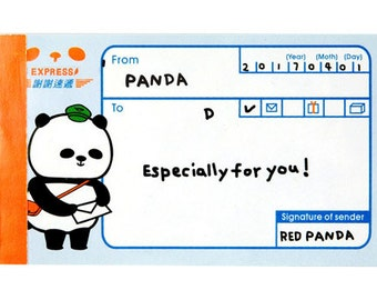 50 sheets Message memo - Panda shaped