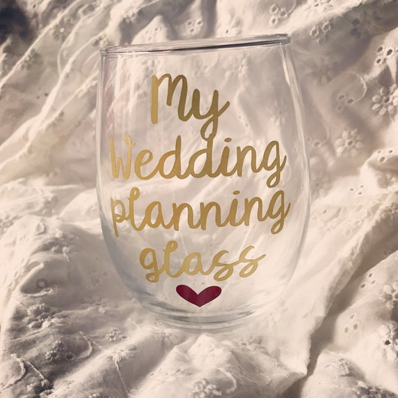Wedding Planning Gift Set : Wedding planning glass, engagement gift, engagement gifts for best ...