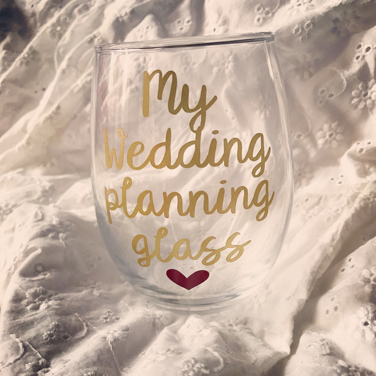 Wedding Planning Glass Engagement Gift Engagement Gifts For