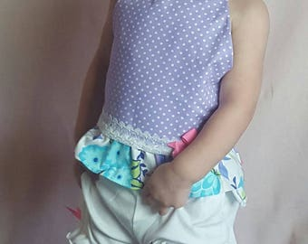 Purple Halter Top with bloomers