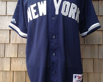Vintage 90s New York Yankees Jersey - Large / XL - Majestic Authentic Collection - Sewn