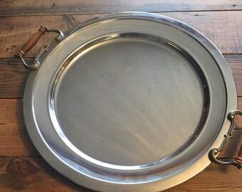 Vintage 1970's Kromex Atapoo Large Platter