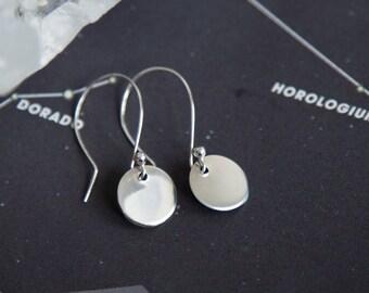 Sterling Silver Earrings, Tiny Silver Earrings, Tiny Earrings, Dainty Earrings, Coin Earrings, Silver Coin Earrings, Dainty Silver Earrings