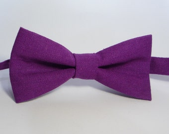 Purple Bow Tie, Men Bow Tie, Bow Tie For Groomsmen, boys bow tie, baby bow tie, toddler bow tie