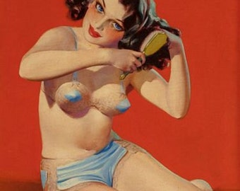 Vintage Pin Up Girl 1613 Pinup Poster  A3 Print