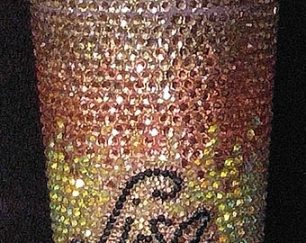 20 oz Personalized Rhinestone/Bling Tumbler with Dome Lid/Personalized Bling Cup/Smoothie Cup/Rhinestone Cup/Custom Bling Cups/Bling/Custom