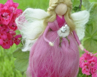Wool Fairy Needle felted fairy Waldorf fairy Felted Doll Waldorf Inspired Ecofriendly Nursery Decor