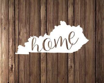 Kentucky home state Decal, I love Kentucky sticker, laptop, window sticker, gold decal, vinyl decals, macbook decal, wall decal, KY sticker