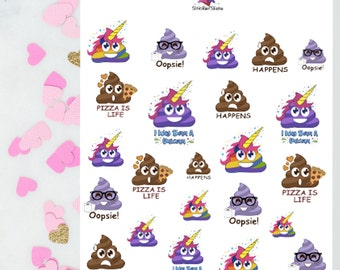 Lil' Poops / Decorative Stickers / Planner Stickers