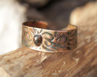 Hammered Copper Bracelet