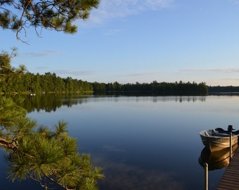 Wisconsin Lake, Up North, Midwest Photography, Wall art, Office Decor