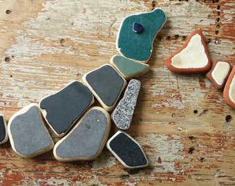 Scottish Sea Pottery Magnets by SeaFindsScotland Upcycled Sea Pottery Pieces Pottery Fragments Vintage Pottery Fridge Magnets Recycled