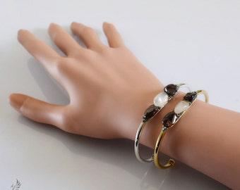 Garnet Jewelry - January Birthstone Gift - Rose Quartz Jewelry - Custom Birthstone Jewelry - Women's Boho Bracelets - Statement Bracelets