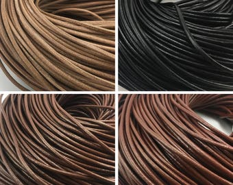 5 Yards Cowhide Leather Cord 3mm