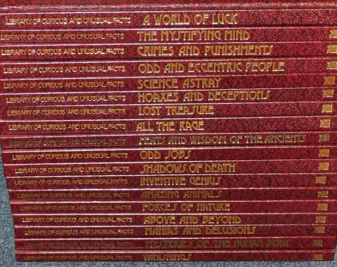 Time-Life: Library of Curious and Unusual Facts-18 Volume Set
