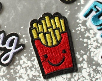 1pc French Fries iron on patch Sew on patch embroidery embroidered patch DIY