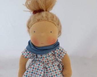 Waldorf inspired doll, cuddle doll, steiner doll, 12 inch, waldorf tradition,soft doll