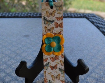 Bookmarks, Butterfly bookmarks, Handmade bookmarks, Butterflies and Flowers, Bookworm gifts