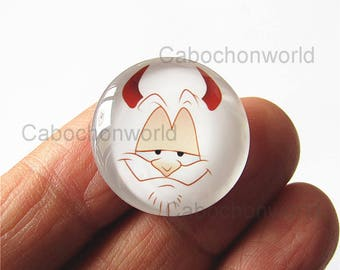 Facial Expression Cabochon Circle Handmade Photo Glass Round Dome Flat Back 8mm 10mm 12mm 14mm 16mm 18mm 20mm 25mm 30mm CW770
